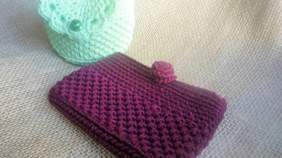 tarjetero monedero crochet