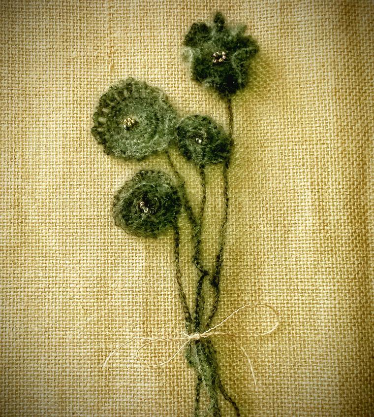 adorno flores crochet
